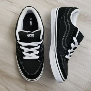Vans Black Suede and Canvas Skate Shoes